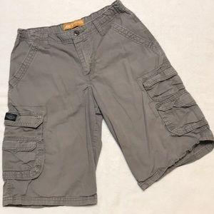 Boys Gray Lee Dungarees Cargo Shorts